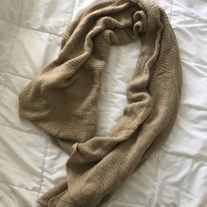 Urban Outfitters Soft Brown Knit Scarf